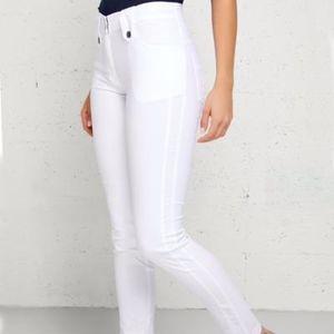 SKYLER TRAVEL PANT - WHITE, Luxury travel brand